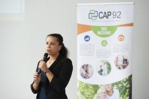 Matinale des SAAD (services d'aide et d'accompagnement à domicile) de 9h30 à 11h30 en partenariat avec l'association CAP92. Sont présents : Armelle Tilly (membre de la commission des affaires sociales, solidarités, enfance, famille) ; Alboury Ndiaye (directeur équipe opérationnelle CAP92) ; Frédéric Primat (Directeur CAP92) ; Stéphanie Dias Da Luz (cahrgée du développement CAP92) ; Amélie Prioux (chargée de suivi et contrôle des SAAD) : Guillaume Staub (Directeur PrevAndCare).